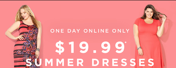$19.99 Summer Dresses. One Day Online Only!