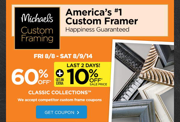50 Off Michaelscom Custom Framing Hot Coupon amp Promo