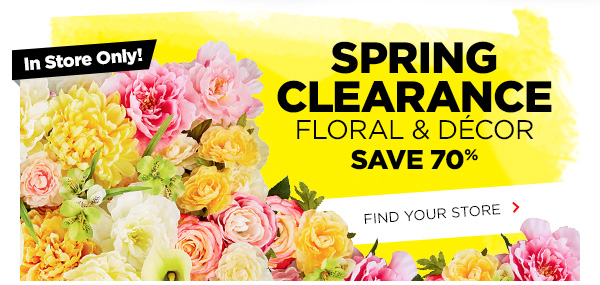 SPRING CLEARANCE FLORAL DECOR