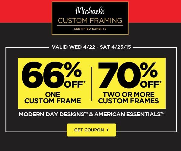 Custom framing coupons