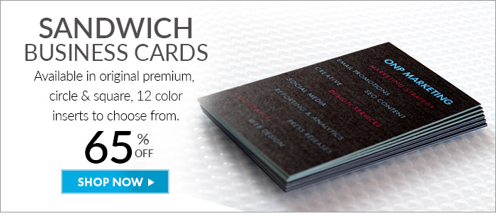 All mailers we love long weekends youll these savings sandwich business cards available in original premium circle and square 12 color inserts colourmoves
